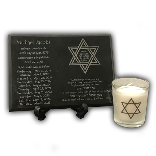 Gourmet Desserts Wedding Cakes By Shelly Wade: Yahrzeit Memorial Plaque & Candle Holder