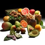 10 fresh seasonal fruits, roasted almonds, rugelach, and sweets from shiva.com.