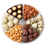Shiva sympathy tray filled with gourmet sweets and premium nuts from shiva.com. Kosher