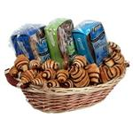 Signature condolence basket with 2 chocolate babka, 1 chocolate loaf and rugelach from shiva.com. Kosher